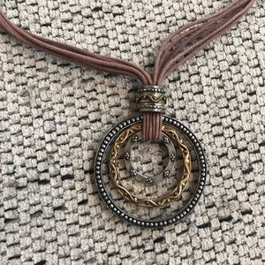 CHICO'S Circle Pendant Necklace